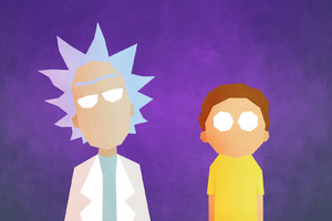 Rick And Morty Minimalist Wallpaper