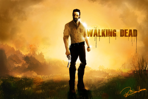 Rick Grimes The Walking Dead 5k Artwork Wallpaper