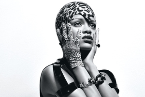 Rihanna Monochrome 4k Wallpaper