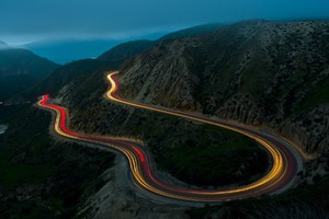 Road Landscape Long Exposure Wallpaper