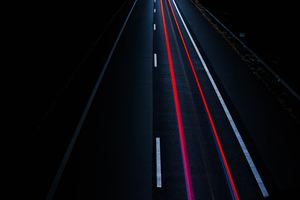 Road Light Trail Long Exposure Wallpaper