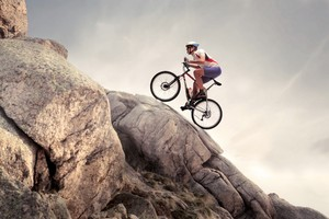 Rock Climbing Cycle Wallpaper