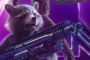 Rocket Raccoon In Avengers Infinity War New Poster