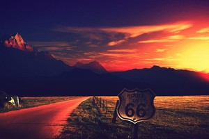 Route Us 66 Photography 4k Wallpaper