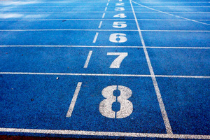 Running Track Numbers Wallpaper