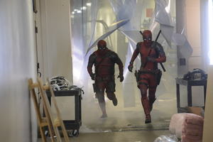 Ryan Renolds And James Corden In Deadpool Dress