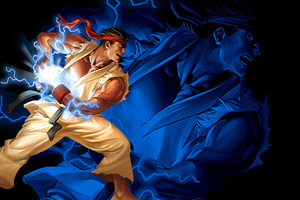 Ryu Hadouken Street Fighter 2 Wallpaper
