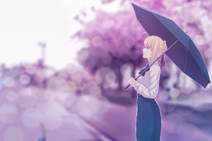 Saber Fate Stay Night Artwork Wallpaper