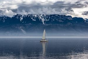 Sailboat Seascape Landscape Wallpaper