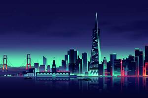 San Francisco Minimalist City Wallpaper