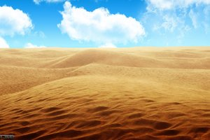 Sandy Desert Wallpaper