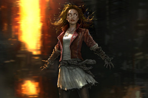 Scarlet Witch 4k Artwork Wallpaper
