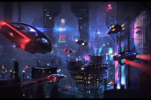 Science Fiction City Wallpaper