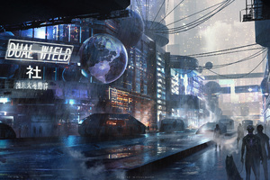 Scifi City Futuristic