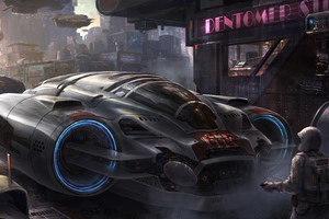 Scifi Vehicle Science Fiction Concept Art 5k Wallpaper