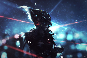 Scifi Warrior Girl Wallpaper