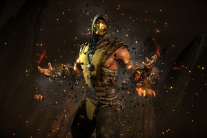Scorpion Mortal Kombat X 4k Wallpaper