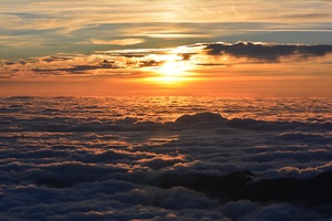 Sea Of Clouds Sunset