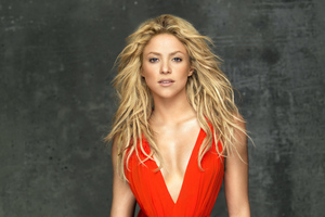 Shakira In Red Dress 5k Wallpaper