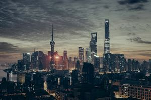 Shanghai Metropolitan City Skyscraper Tower Buildings Wallpaper