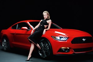 Sienna Miller With Ford Mustang Photoshoot