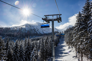 Ski Lift Snow Trees Winter 5k Wallpaper