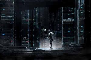 Skull Ghost Cityscape Dark Night Wallpaper