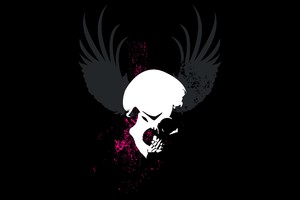 Skull Grunge Wings Dark Wallpaper
