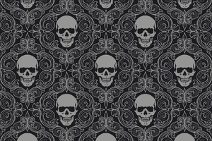 1920x1080 Skull Tiles Background