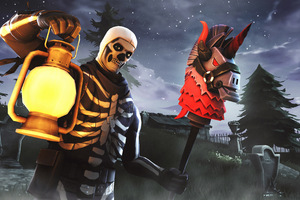 Skull Trooper Fortnite Season 6 4K Wallpaper