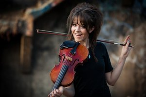 Smiling Lindsey Stirling