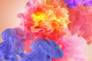 Smoke Colors Abstract Wallpaper