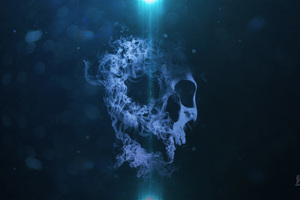 Smoke Skull 5k Wallpaper