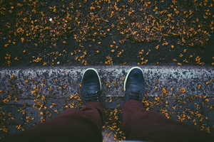 Sneakers Autumn Leaves Fallen 5k