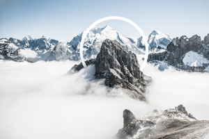 Snowy Mountains Abstract Wallpaper