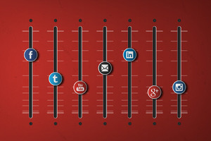 Social Networks Equalizer Wallpaper