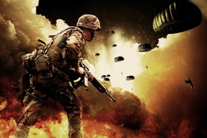 Soldiers War Battlefield Explosion Wallpaper