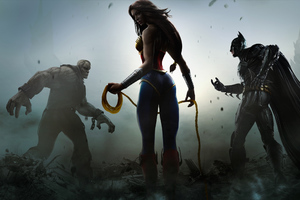 Solomon Grundy Wonder Woman And Batman In Injustice Gods Among Us Wallpaper