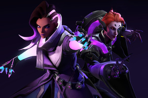 Sombra And Moira Overwatch 5k