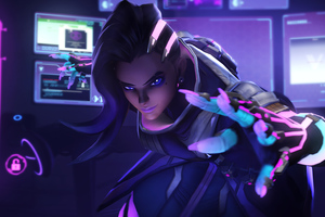 Sombra Overwatch Art 4k Wallpaper