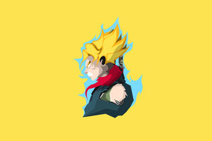 Son Goku Dragon Ball Super 4k Minimalism