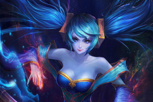 Sona League Of Legends 5k Wallpaper