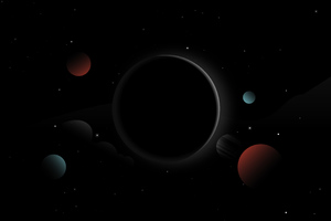 Space Dark Abstract Wallpaper