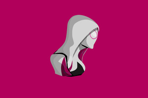 Spider Gwen Minimalism 4k Wallpaper