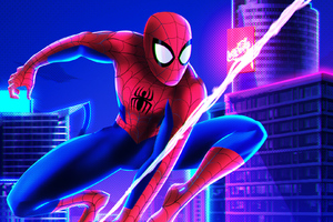 Spiderman Into The Spider Verse 1360x768 Resolution Wallpapers Laptop Hd