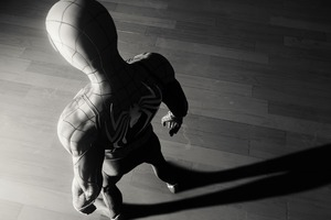 Spiderman Game Spider Logo 4k Monochrome