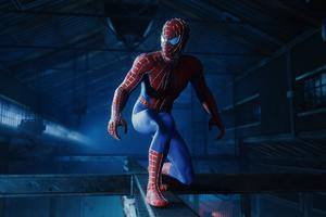 Spiderman In The Warehouse Wallpaper