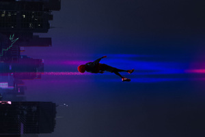 SpiderMan Into The Spider Verse Movie 2018 Art Wallpaper
