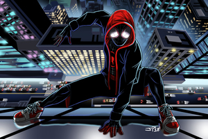 SpiderMan Into The Spider Verse Movie Art Wallpaper