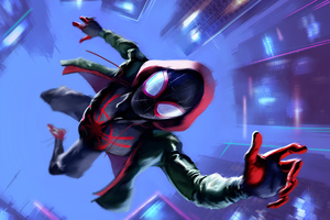 SpiderMan Into The Spider Verse Movie Arts Wallpaper